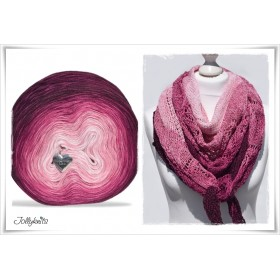 Gradient Yarn + Knitting pattern FALL IN LOVE