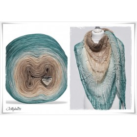 Gradient Yarn + Knitting pattern OCEAN DUST
