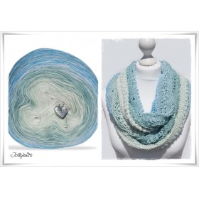 Gradient Yarn + Knitting pattern SEAWATER