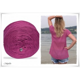 Gradient Yarn + Knitting pattern RASPERRY SUMMER DREAM