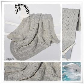 Knitting Pattern Baby blanket DAUPHIN